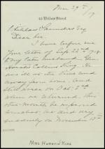 Letter from Esther King to Whitelaw Saunders