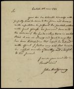 Letter from John Montgomery to Anthony Wayne