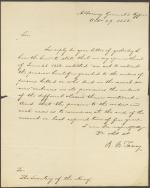 Letter from Roger B. Taney to Levi Woodbury