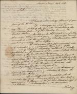 Letter from William Bingham to Thomas Fitzsimons