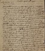 Letter from William Irvine to Callender Irvine