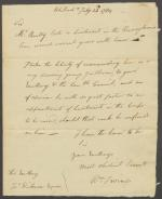 Letter from William Irvine to John Dickinson