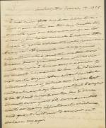 Letter from Roger Brooke Taney to Mrs. Patterson
