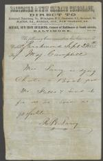 Telegram from Roger B. Taney to J. Mason Campbell