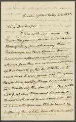 Letter from Roger B. Taney to J. Mason Campbell