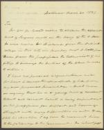 Letter from Roger B. Taney to John Branch