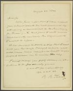 Letter from Roger B. Taney to Mr. Colt