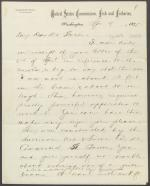 Letter from Spencer Baird to Horatio Storer