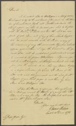 Letter from James Wilson to Jasper Yeates