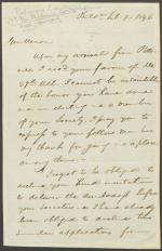 Letter from John Durbin to Daniel Gans, William Hall, and Charles Black