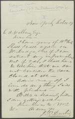 Letter from John Durbin to C. Walborn