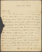 Letter from Roger B. Taney to J. J. Speed