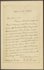 Letter from Roger B. Taney to Joseph Henry