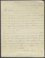 Letter from Walter Lowrie to Roger B. Taney (Copy)