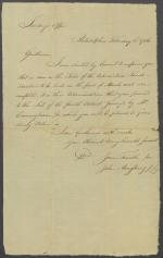 Letter from John Armstrong Jr. to Secretary's Office