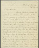 Letter from William Bigler to A. Boyd Hamilton