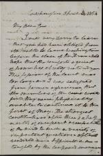 Letter from Roger B. Taney to Robert Grier