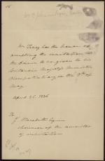 Letter from Roger B. Taney to J. Meredith