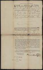 Deed for Land Sold by Francis Mowing Jr. to James Wilson