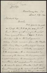 Letter from Robert Grier to Aubrey Smith