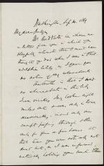 Letter from Salmon Chase to Robert Grier