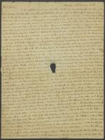 Letter from Charles Nisbet to the Minister of Drumelzier