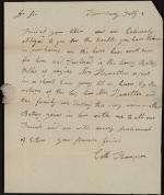 Letter from Catherine R. Thompson to James Hamilton