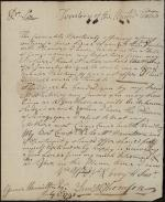 Letter from Samuel Thompson to James Hamilton