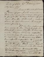 Letter from John Armstrong to George Thompson