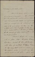 Address to George Washington by Charles Hall (Draft)
