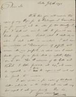 Letter from Joseph Priestley to Unknown Recipient
