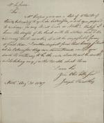 Letter from Joseph Priestley Jr. to Nicholas LeFevre