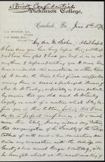 Letter from Charles Himes to William Fisher