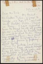 Letter from Allen Tanner to Morris Fish