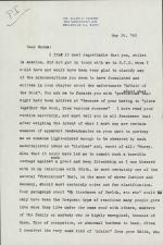 Letter from Allen Tanner to Victoria Glendinning