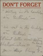 Notes on Friendship with Gertrude Stein by Allen Tanner