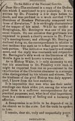 Letter from Joseph Priestley to Joseph Berrington