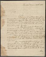 Letter from William Bingham to the Dickinson College Board of Trustees