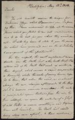 Letter from Benjamin Latrobe to Hugh Henry Brackenridge
