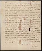 Letter from Charles Nisbet to Michael Taney