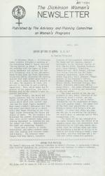 Dickinson Women's Newsletter (Apr. 1974)