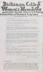 Dickinson College Women's Newsletter (Oct. 1975)