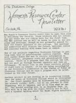 Women's Resource Center Newsletter (Sep. 1978)