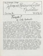 Women's Resource Center Newsletter (Fall 1978)