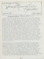 Women's Resource Center Newsletter (Jan. 1978)