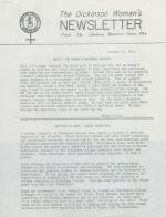 Dickinson Women's Newsletter (Oct. 1976)