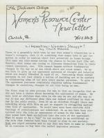 Women's Resource Center Newsletter (Dec. 1977)
