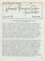Women's Resource Center Newsletter (Dec. 1977)