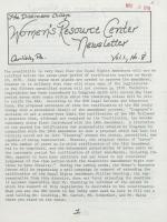 Women's Resource Center Newsletter (May 1978)