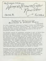 Women's Resource Center Newsletter (Mar. 1978)